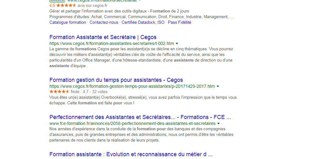 formations pour assistantes