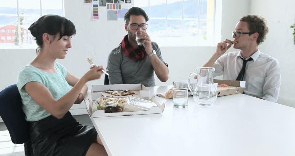 dejeuner au bureau